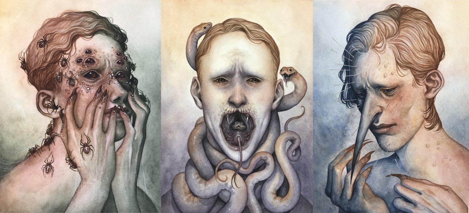 Maija Kaipainen akvarellimaalaus opinnäytetyö 2020