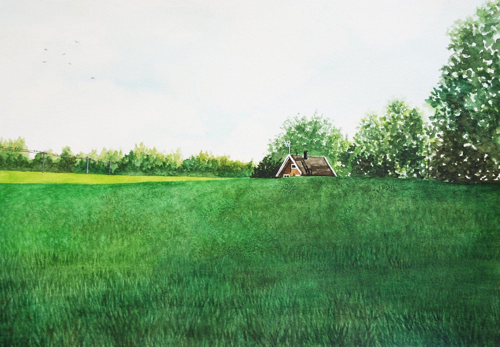 Mari Lappalainen akvarelli 2017