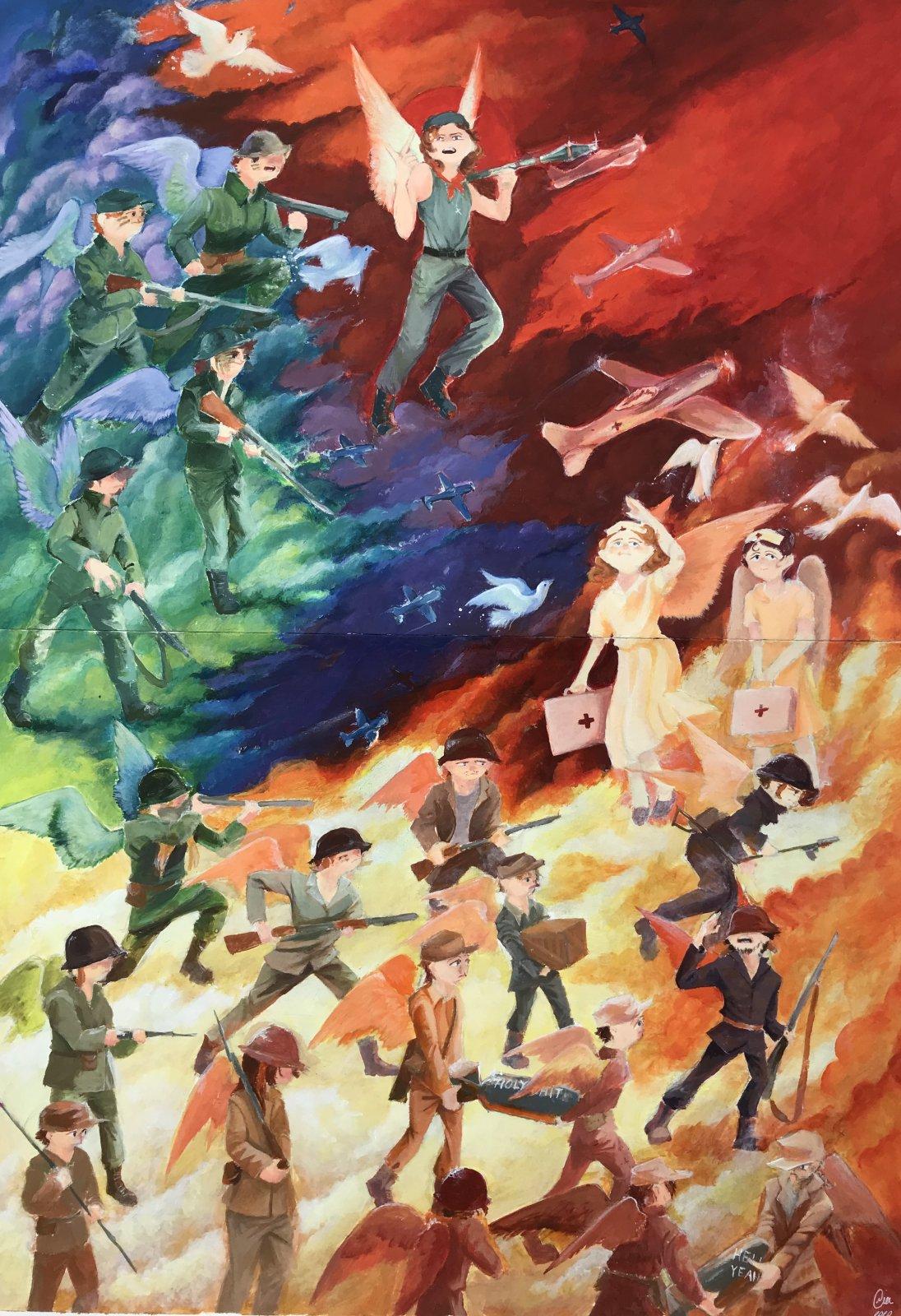 Mia Korolainen akryylimaalaus opinnäytetyö 2020