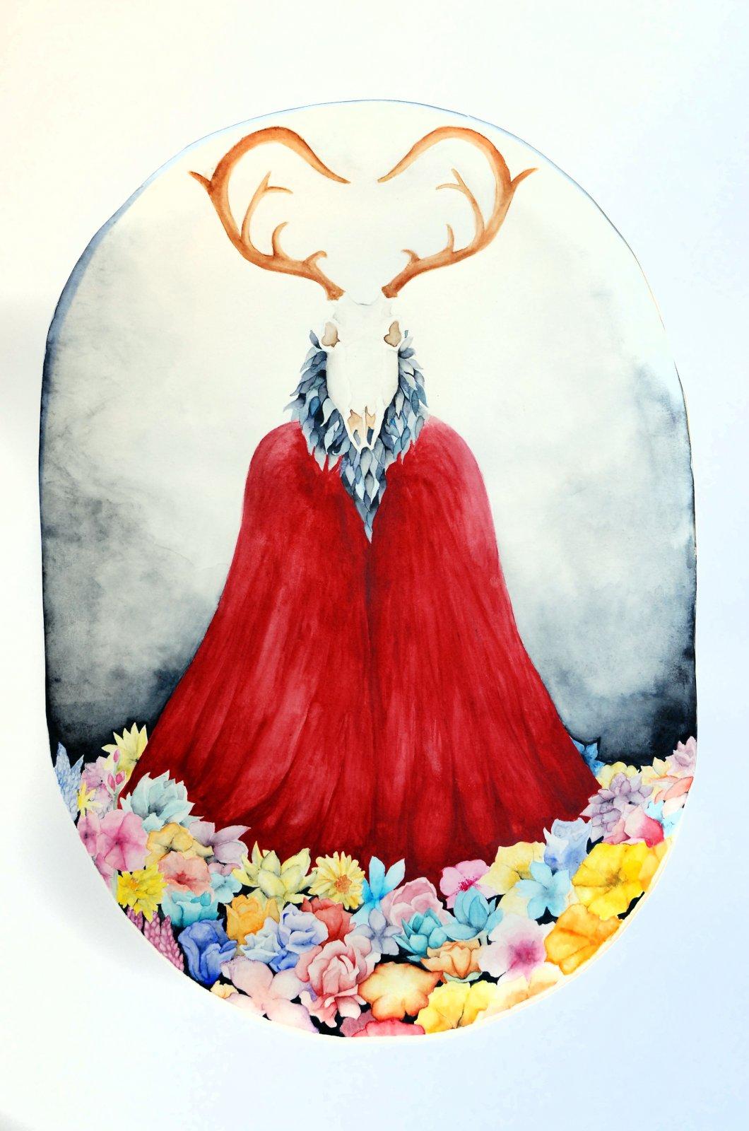 Ninni Vartiainen akvarelli 2017