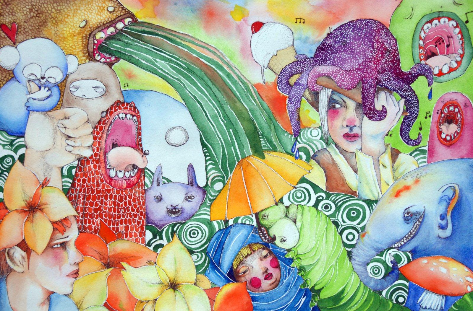 Iina Suvela Akvarelli Ja Tussi 2009