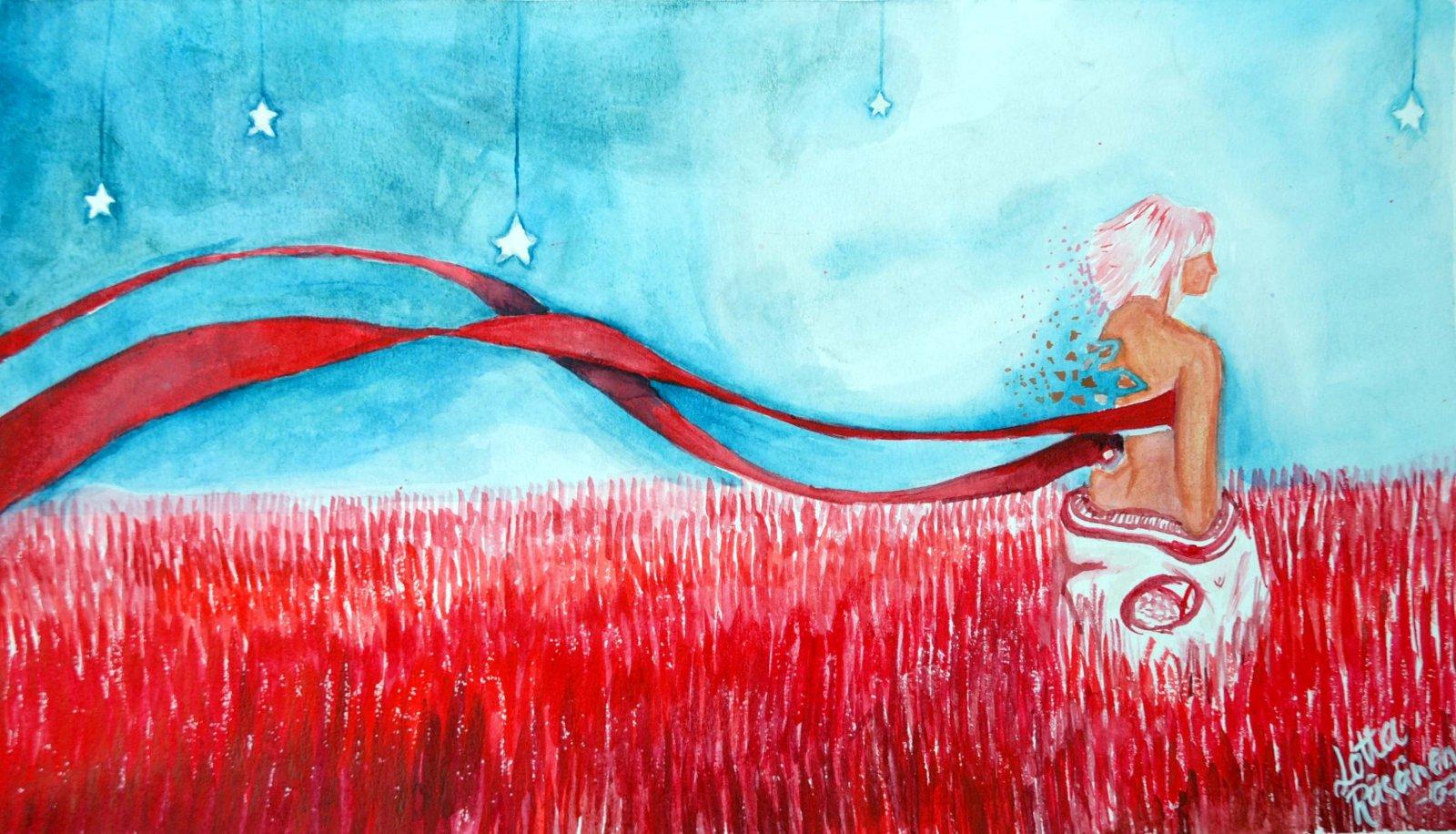 Lotta Räsänen akvarelli 2008