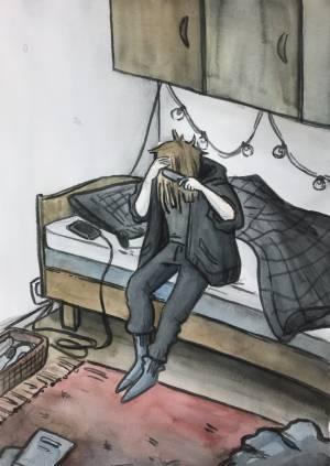 Roosa Korhonen akvarelli 2020