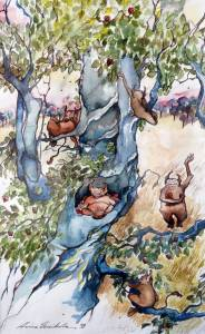 Aino Haikola  akvarelli ja tussi 1998