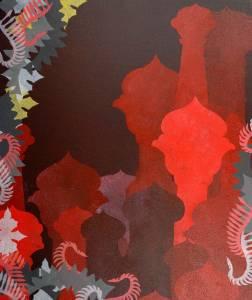 Riikka Korkalainen akryylimaalaus 2008